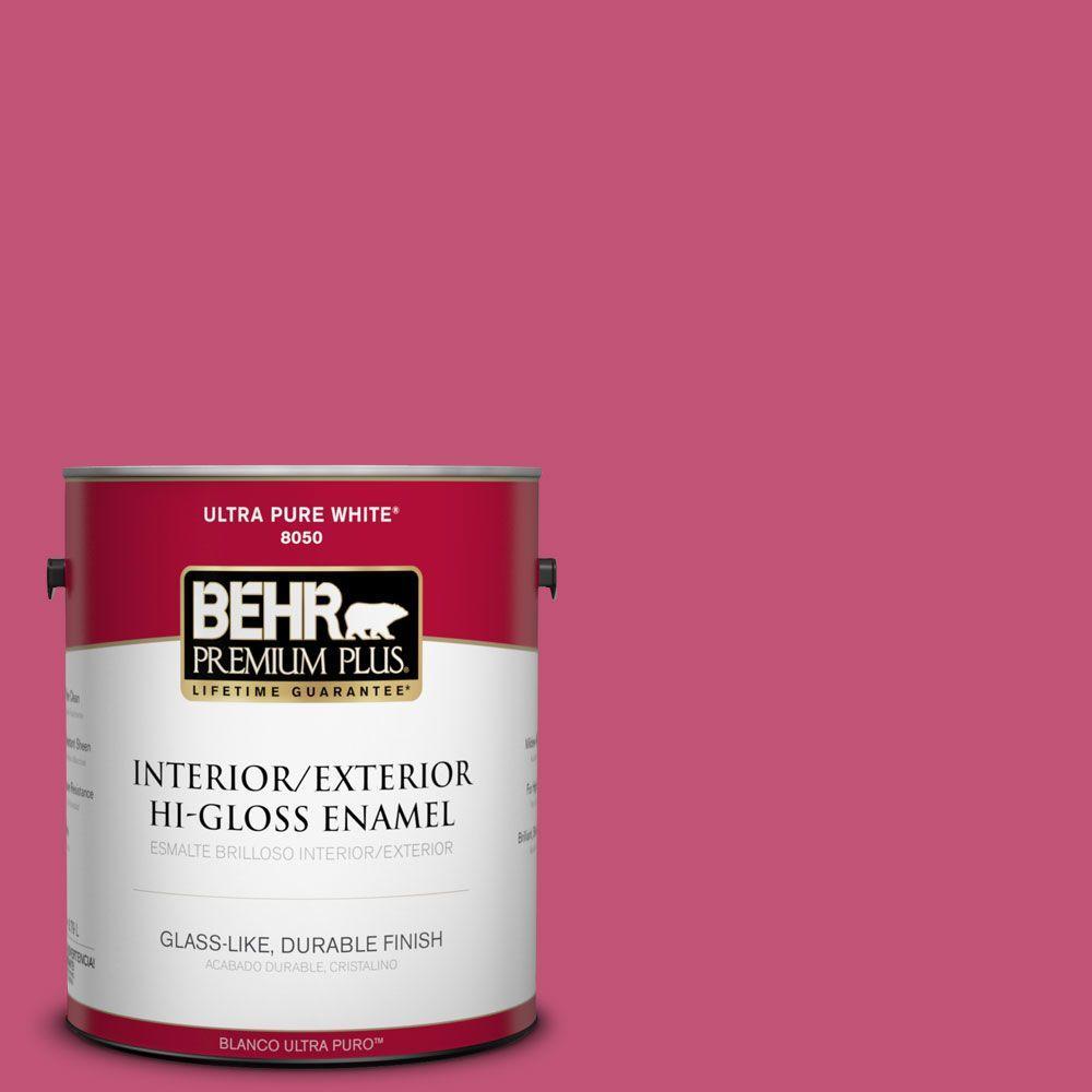 BEHR Premium Plus 1 gal. #T16-02 Pagoda Interior/Exterior Hi-Gloss ...