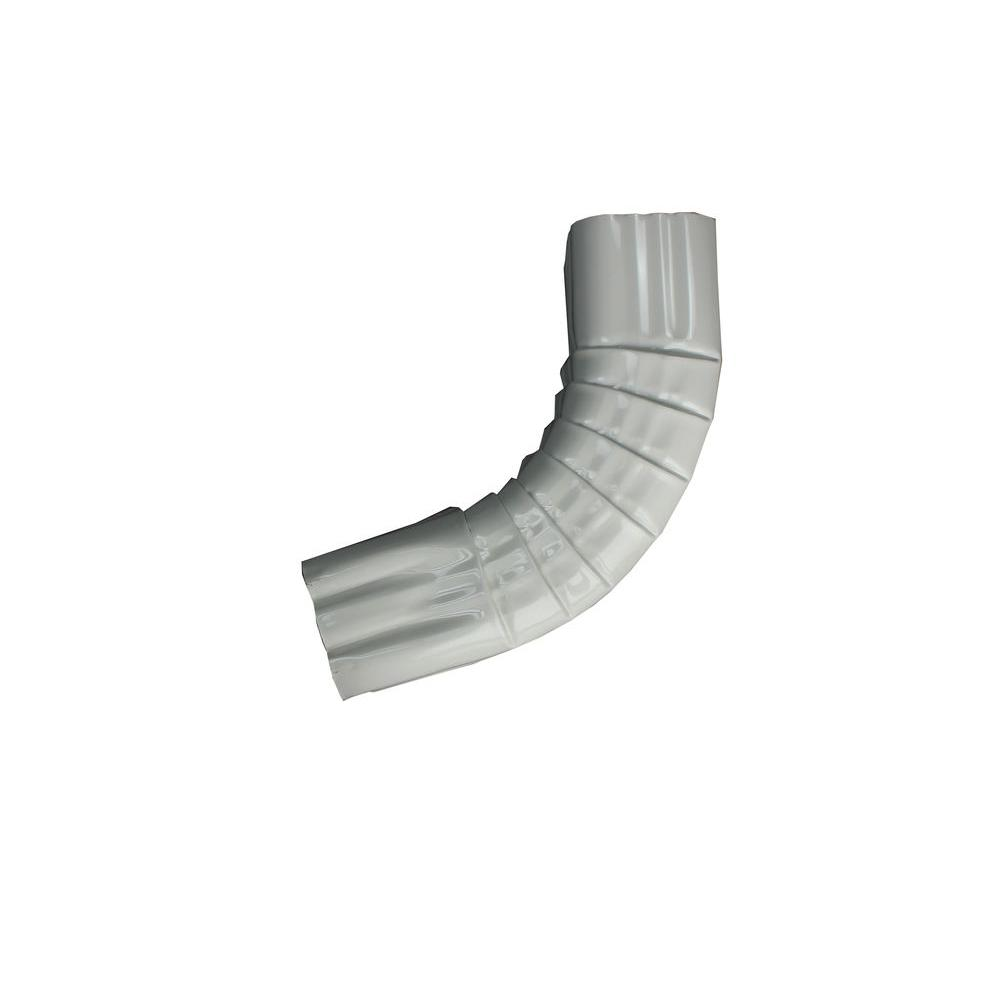 2 in. x 3 in. High Gloss White Aluminum Downpipe -