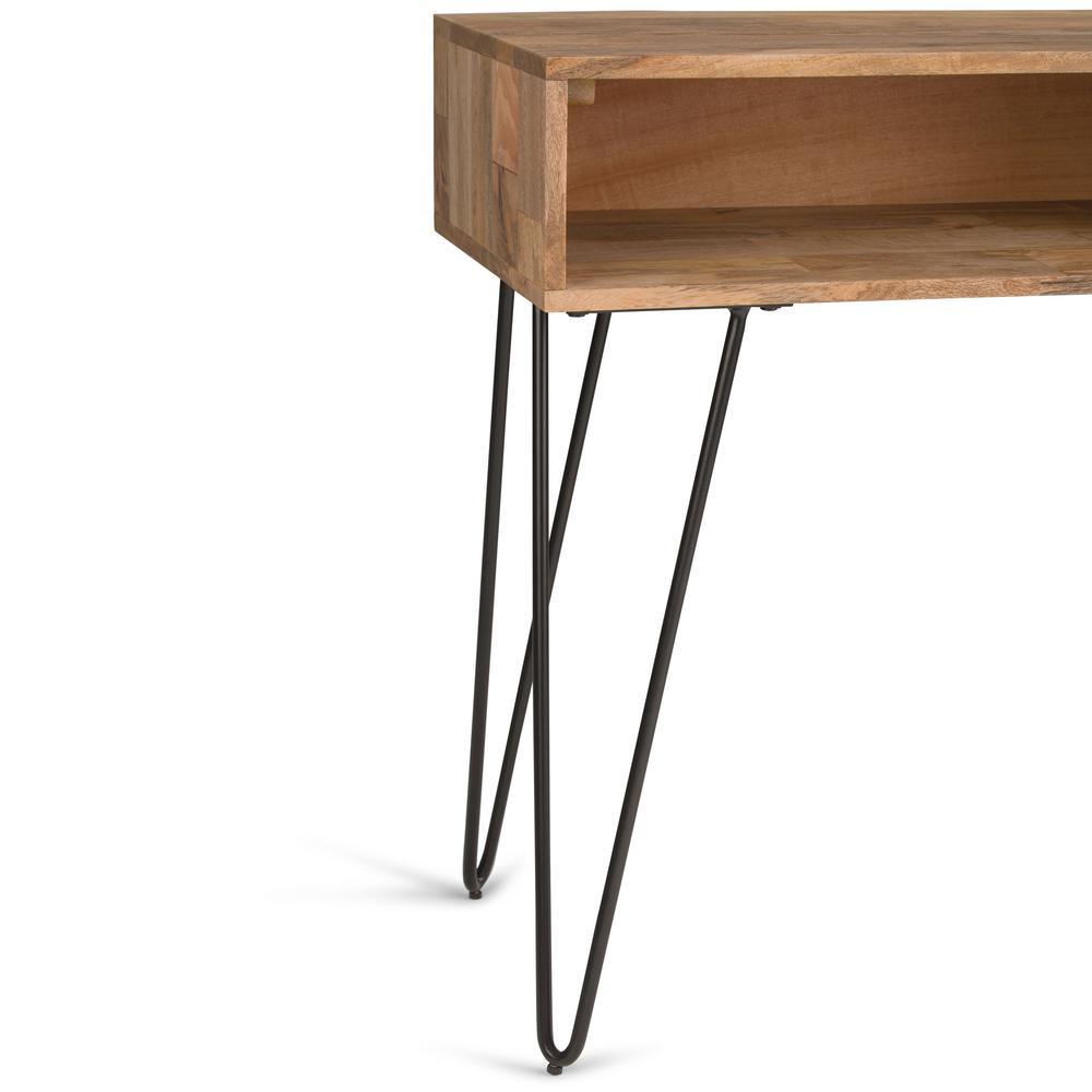 Fine Simpli Home Hunter Solid Mango Wood And Metal 55 In Wide Creativecarmelina Interior Chair Design Creativecarmelinacom