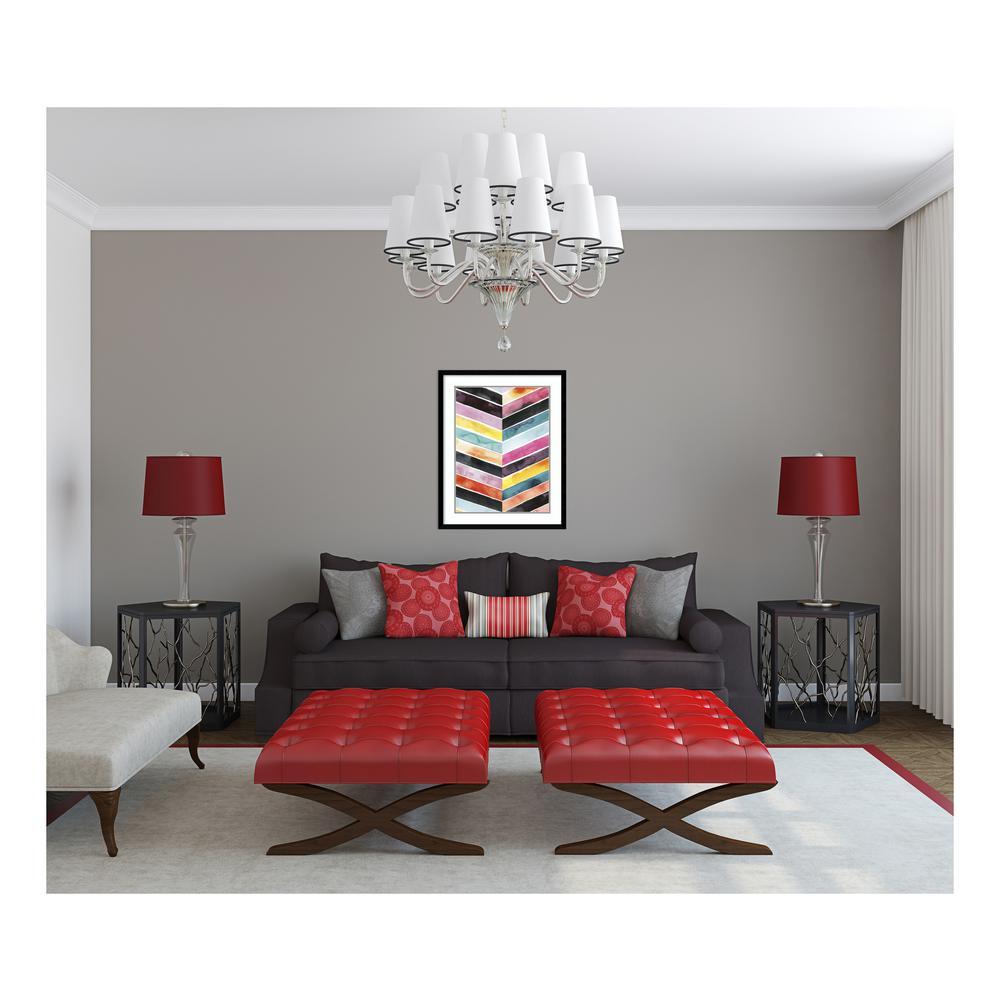 """30 in. H x 24 in. W """"Vivid Watercolor Chevron II"""" by """" Grace Popp"""" Framed Print Wall Art"""