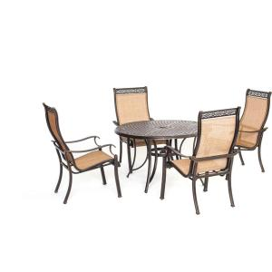 Hanover Manor 5-Piece Round Patio Dining Set by Hanover