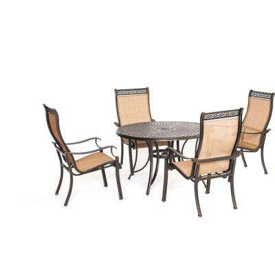 Manor 5-Piece Round Patio Dining Set