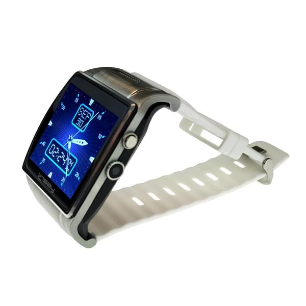 LINSAY EX5LW Executive Smart Watch White with Camera and Micro SD Card Slot up to 64GB