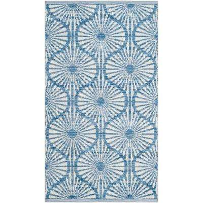 Montauk Blue/Ivory 2 ft. 3 in. X 3 ft. 9 in. Area Rug