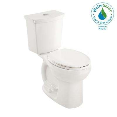 Cadet 3 Tall Height Complete 2-Piece 1.0 GPF Dual Flush Round Toilet in White with Slow Close Seat