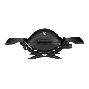 Weber Q 1200 1-Burner Portable Tabletop Propane Gas Grill in Black with Built-In Thermometer by Weber