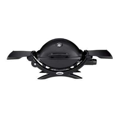 Q 1200 1-Burner Portable Tabletop Propane Gas Grill in Black with Built-In Thermometer