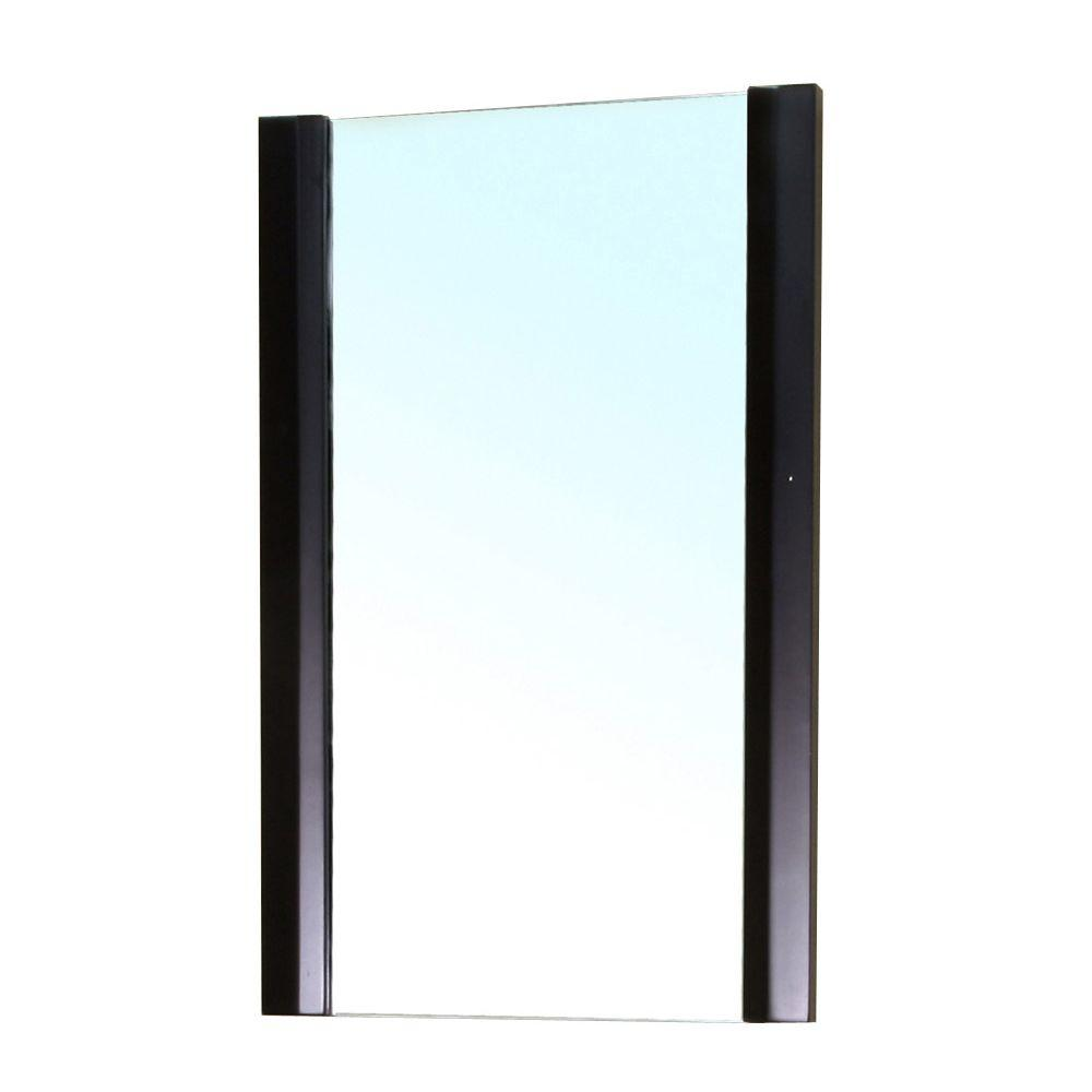 Bellaterra Home Bexhill 32 In L X 20 W Solid Wood Frame Wall Mirror Black
