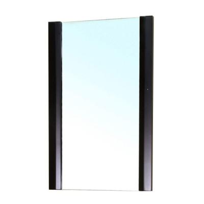 Bexhill 32 in. L x 20 in. W Solid Wood Frame Wall Mirror in Black