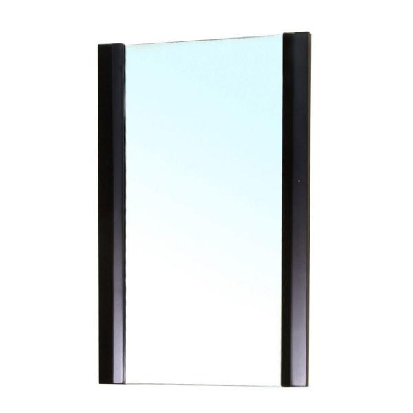Bexhill 20 in. W x 32 in. H Framed Rectangular Bathroom Vanity Mirror in BROWN