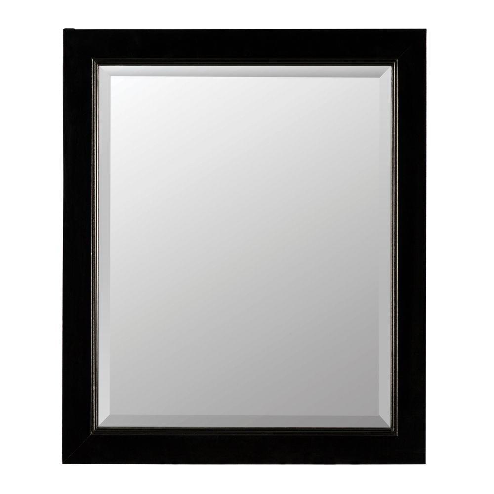 Gazette 22 in. W x 28 in. H x 6-5/8 in. D Framed Surface-Mount Bathroom Medicine Cabinet in Espresso