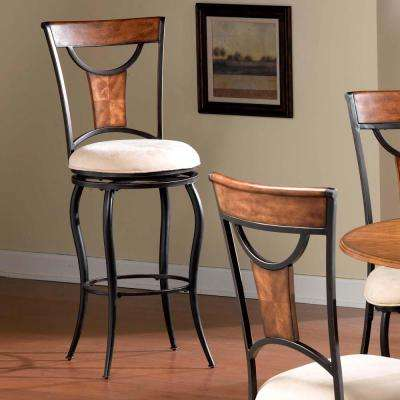 Pacifico 26 in. Black and Copper Cushioned Bar Stool