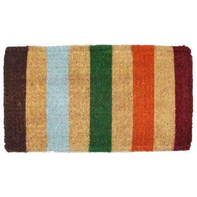 Imperial Stripe 18 in. x 30 in. Coir Door Mat