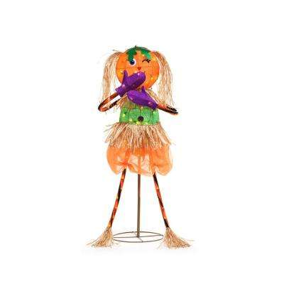 49 in. Tinsel Whimsy Pumpkin Scarecrow