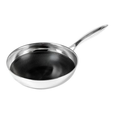 9.5 in. Non-Stick Chef's Pan in Stainless Steel