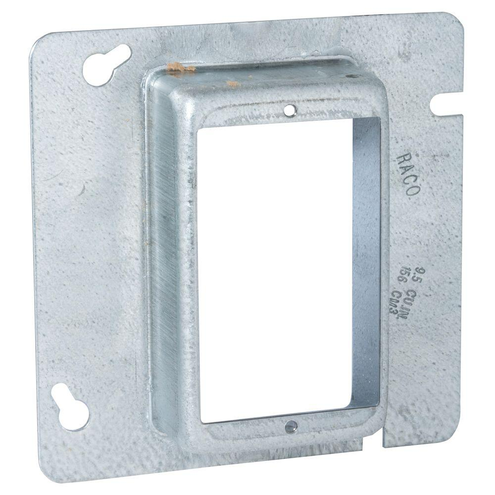 RACO 4-11/16 in. Square Single Device Mud Ring, 1-1/4 in. Raised (25-Pack)