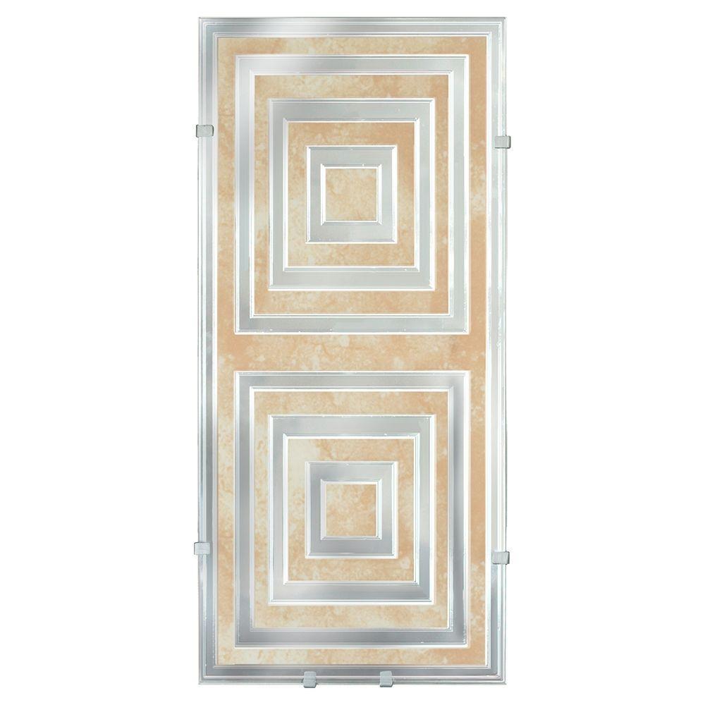 null Illuminada Geo Decorative 2-Light Tans and Yellow Tones Wall Light