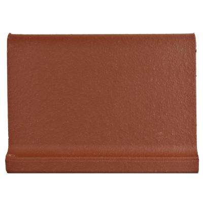 Klinker Red 4-3/8 in. x 5-7/8 in. Ceramic Skirting Floor and Wall Quarry Tile