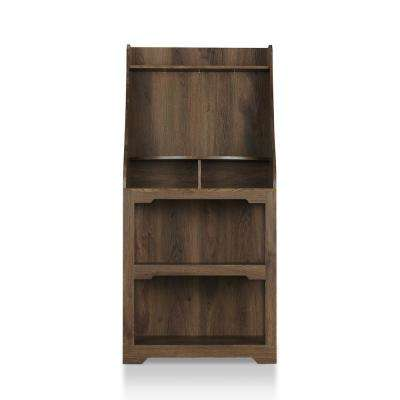Gaskin Distressed Walnut Baker Rack With Shelving
