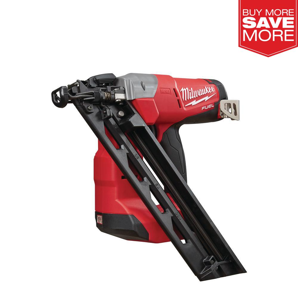 Milwaukee Angled Finish Nailer Reconditioned M18 Brushless 15-Gauge Tool Only