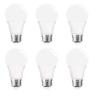 40-Watt Equivalent A19 6W Non-Dimmable LED Light Bulb E26 Base in Warm White 3000K (6-Pack)
