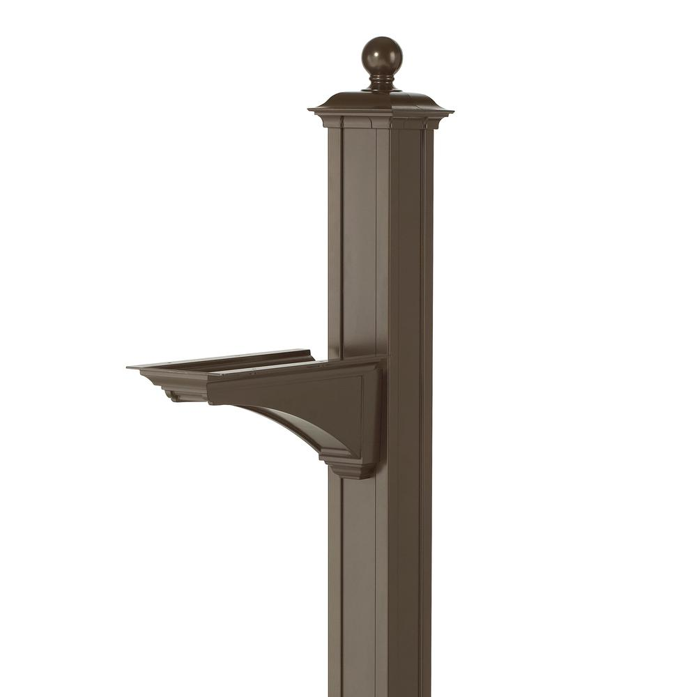 Balmoral Bronze Deluxe Post and Bracket with Finial