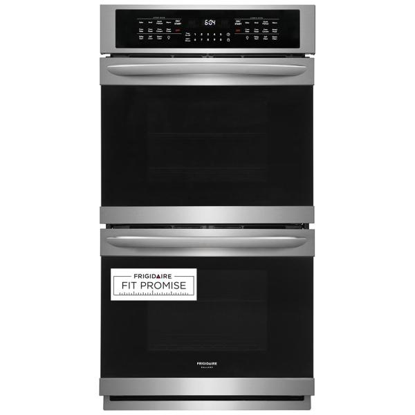 27 in. Double Electric Wall Oven with True Convection Self-Cleaning in Stainless Steel