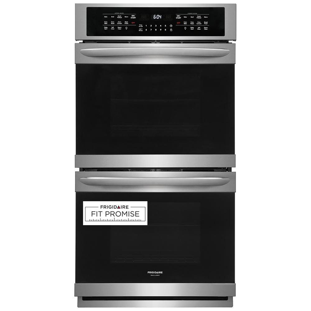 Frigidaire Gallery 27 in. Double Electric Wall Oven with True Convection Self-Cleaning in Stainless Steel