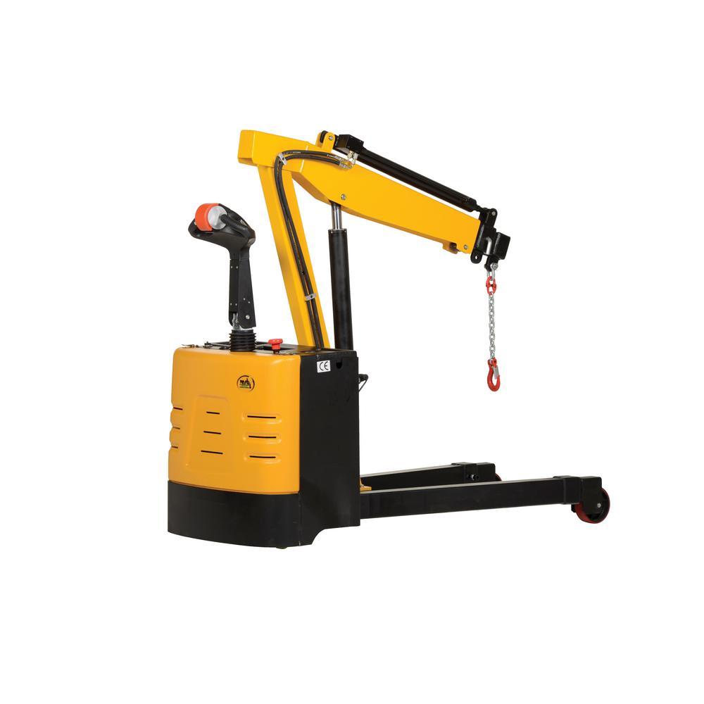 2,500 lb. Capacity Electric Powered Floor Crane