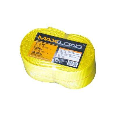 4 in. x 30 ft. x 20,000 lbs. Vehicle Recovery Tow Strap