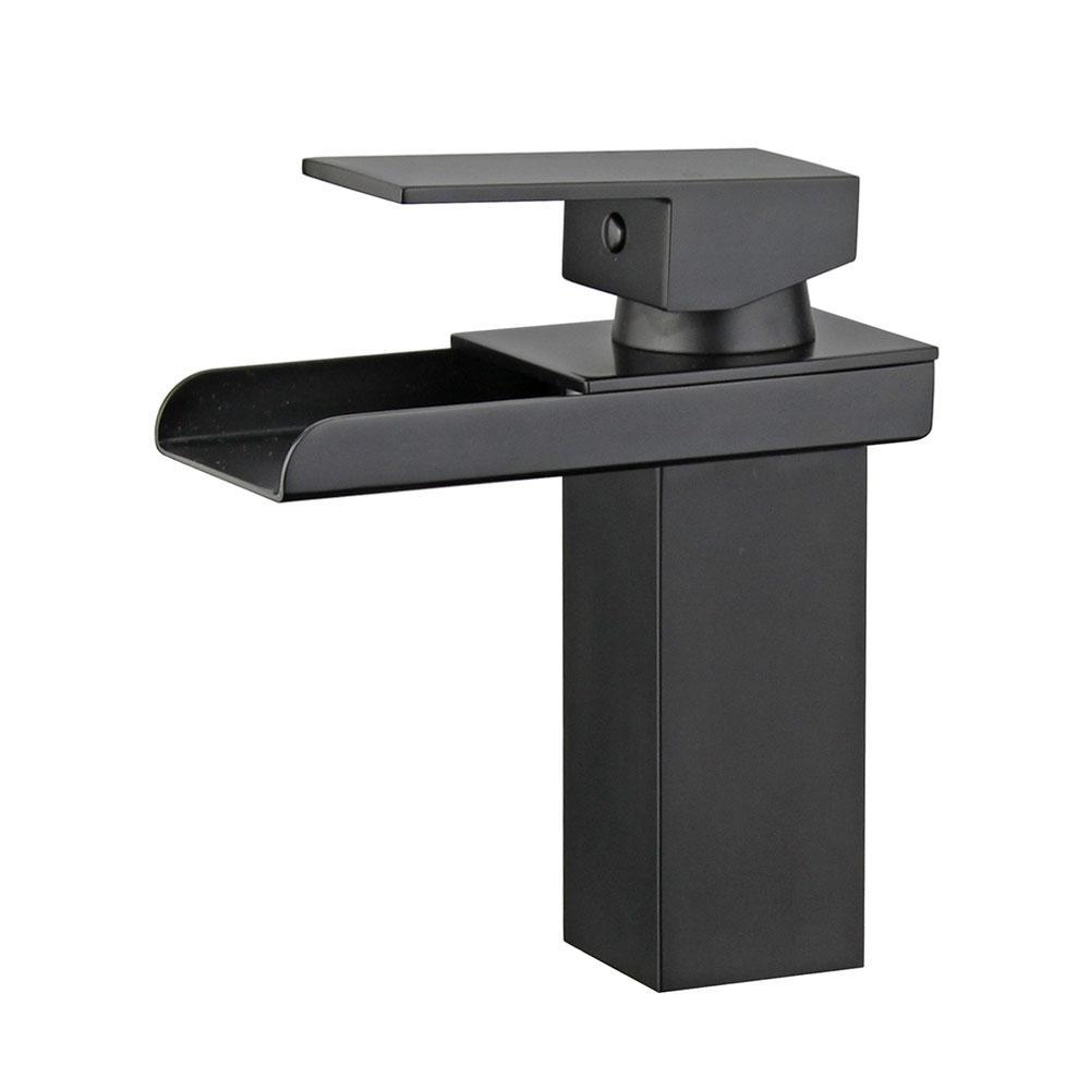 Pampalona Single Hole Single-Handle Bathroom Faucet in New Black