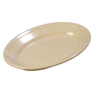 6.25 in. x 9.25 in. Melamine Oval Platter in Tan (Case of 24)