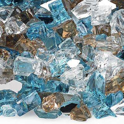 Bali 1/2 in. Reflective Fire Glass 10 lbs. Bag