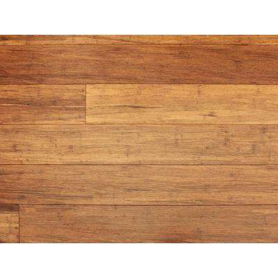 Strand Woven Carbonized 1/3 in. T x 5-1/8 in. W x 36 in. L Click Engineered Bamboo Flooring (30.72 sq.ft./case)