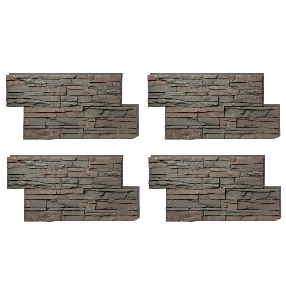 GenStone Stacked Stone 24 in. x 42 in. Keystone Faux Stone Siding ...