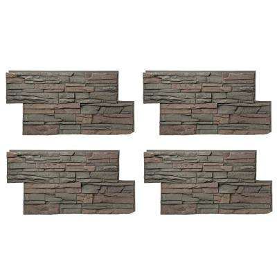 Stacked Stone 24 in. x 42 in. Keystone Faux Stone Siding Panel (4-Pack)