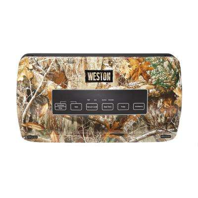 Realtree Edge Camouflage Food Vacuum Sealer with Roll Storage and Bag Cutter