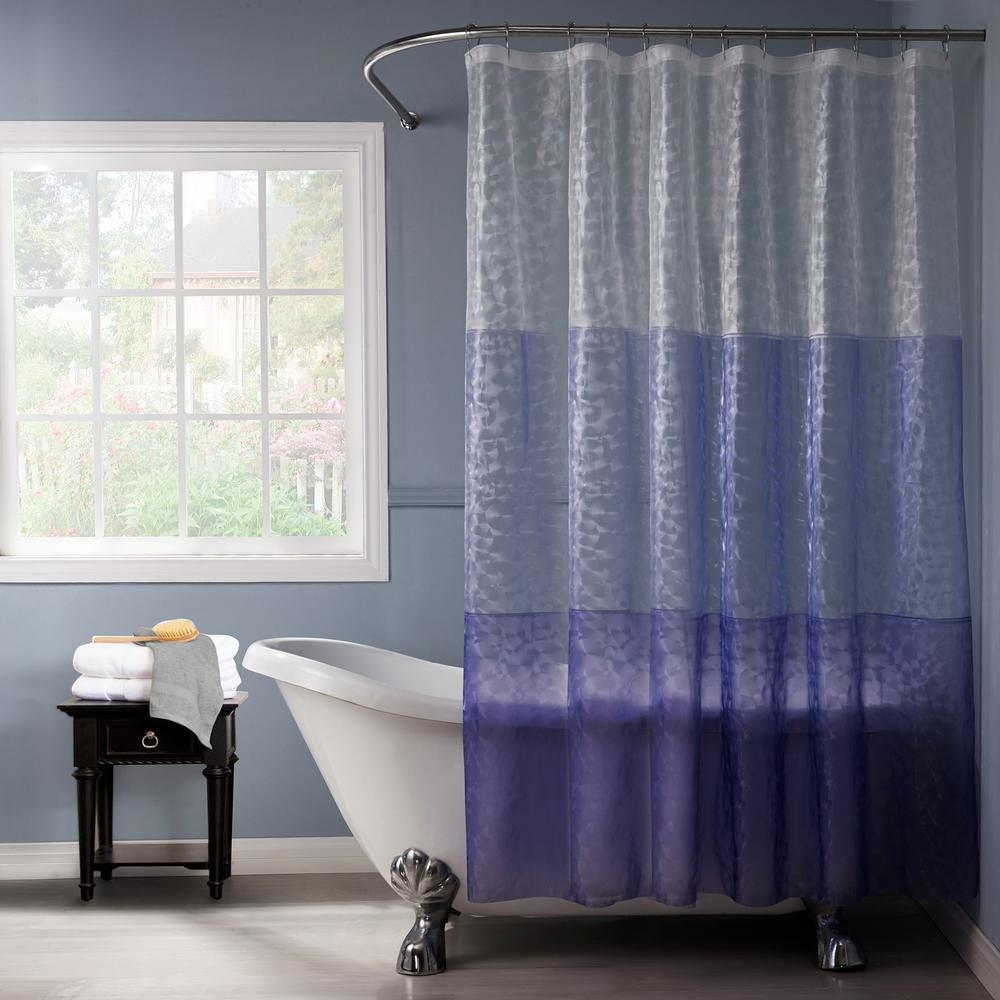 Purple And Teal Shower Curtain. Purple Shower Curtain Reflection 3D 72 in  REF3DPU The Home Depot