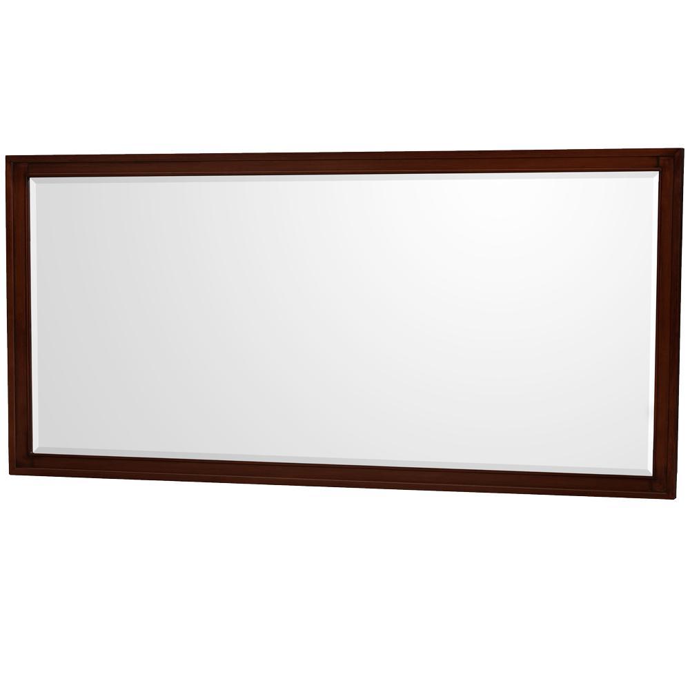 Hatton 70 in. W x 33 in. H Framed Wall Mirror in Dark Chestnut