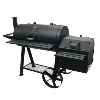 Farmer's Charcoal Grill and Off-Set Smoker