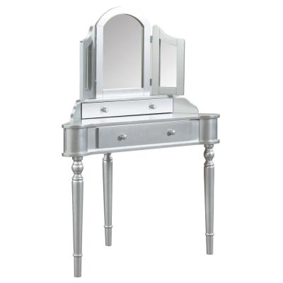 Kelly 3-Piece Silver Vanity Set