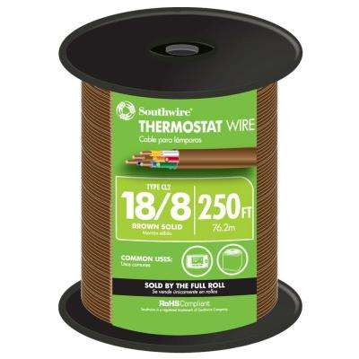 250 ft. 18/8 Brown Solid CU CL2 Thermostat Wire