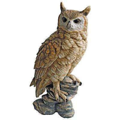 17 in. H Perching Forest Owl Garden Statue