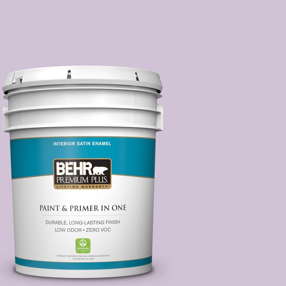 BEHR Premium Plus 5-gal. #M100-2 Seedless Grape Satin Enamel Interior Paint