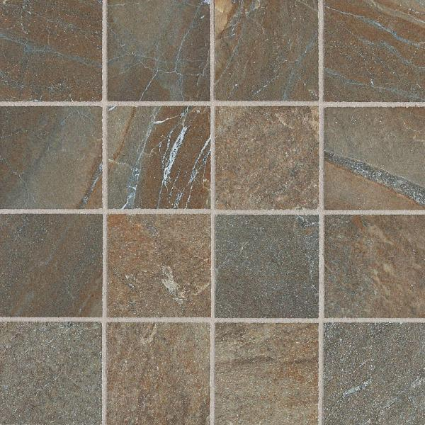 Ayers Rock Rustic Remnant 13 in. x 13 in. x 10 mm Glazed Porcelain Mosaic Floor and Wall Tile (1.2 sq. ft. / piece)