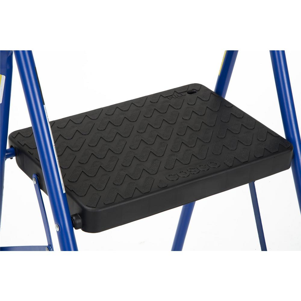Excellent Cosco 2 Step Steel Big Step Folding Step Stool With Type 3 Rubber Hand Grip In Blue Caraccident5 Cool Chair Designs And Ideas Caraccident5Info