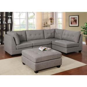 Cool Furniture Of America Isobel Light Gray Tufted Armless Chair Ibusinesslaw Wood Chair Design Ideas Ibusinesslaworg