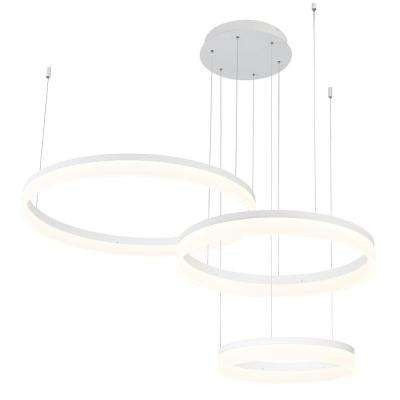 Minuta Collection 106-Watt White Integrated LED Chandelier