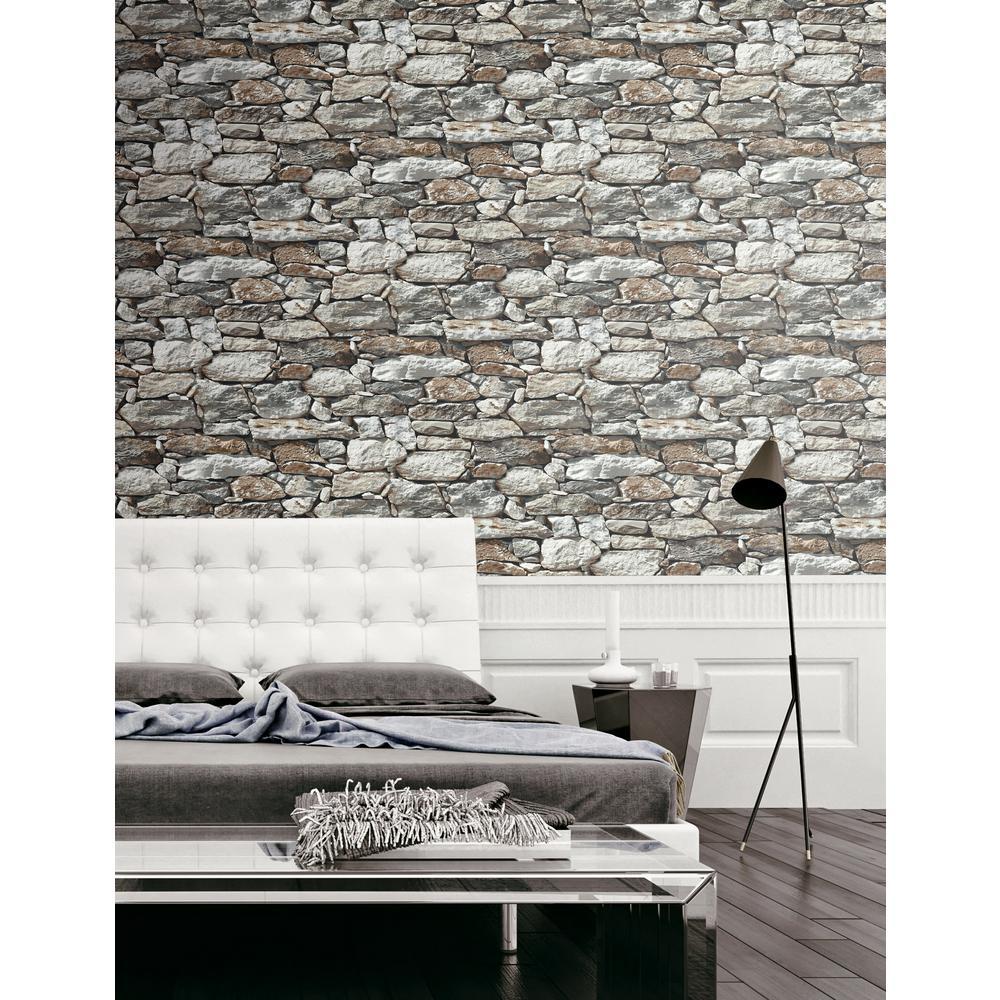 Brick Wallpaper Home Decor The Home Depot