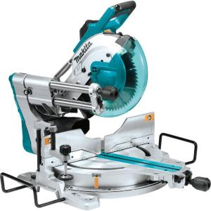 Makita 15 Amp 10 inch Dual-Bevel Sliding Compound Miter Saw with Laser and Stand by Makita